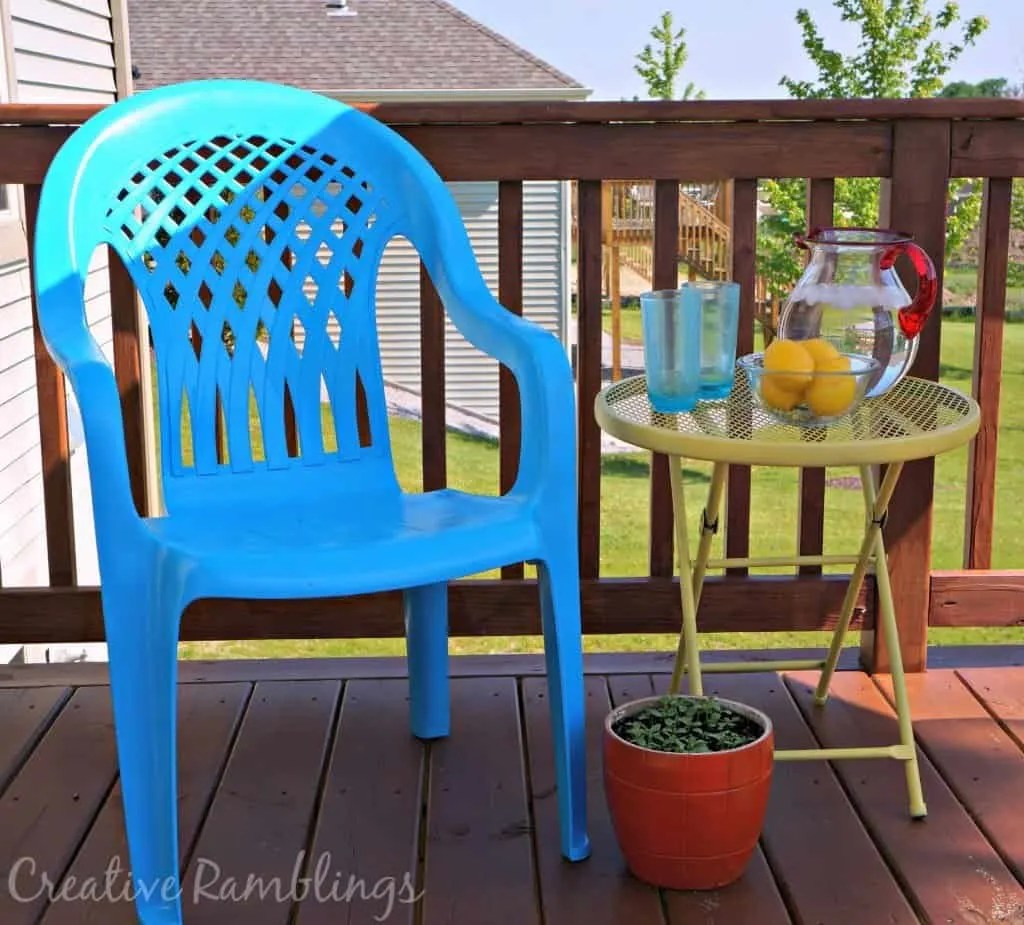 baby swing chair youtube saddle seat chairs reviews how (and why) to seal painted pots - plus a mini bird bath creative ramblings