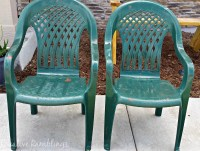 Deck Makeover - Painted Plastic Chairs - Creative Ramblings