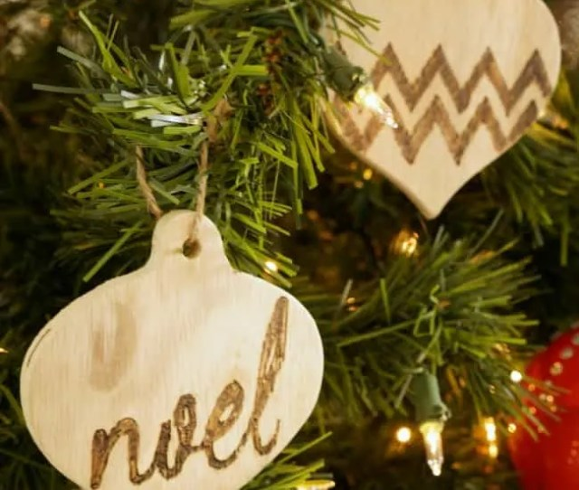 Yes You Can Create These Easy Wood Burned Ornaments  Simple Tool And A Few