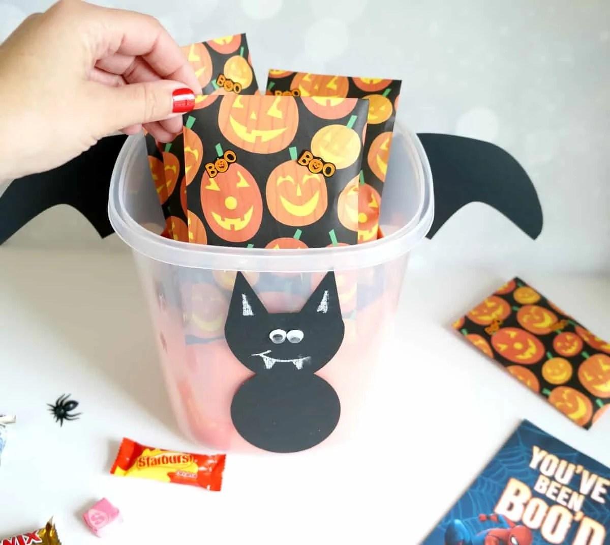 Boo Kit With Halloween Bat Template