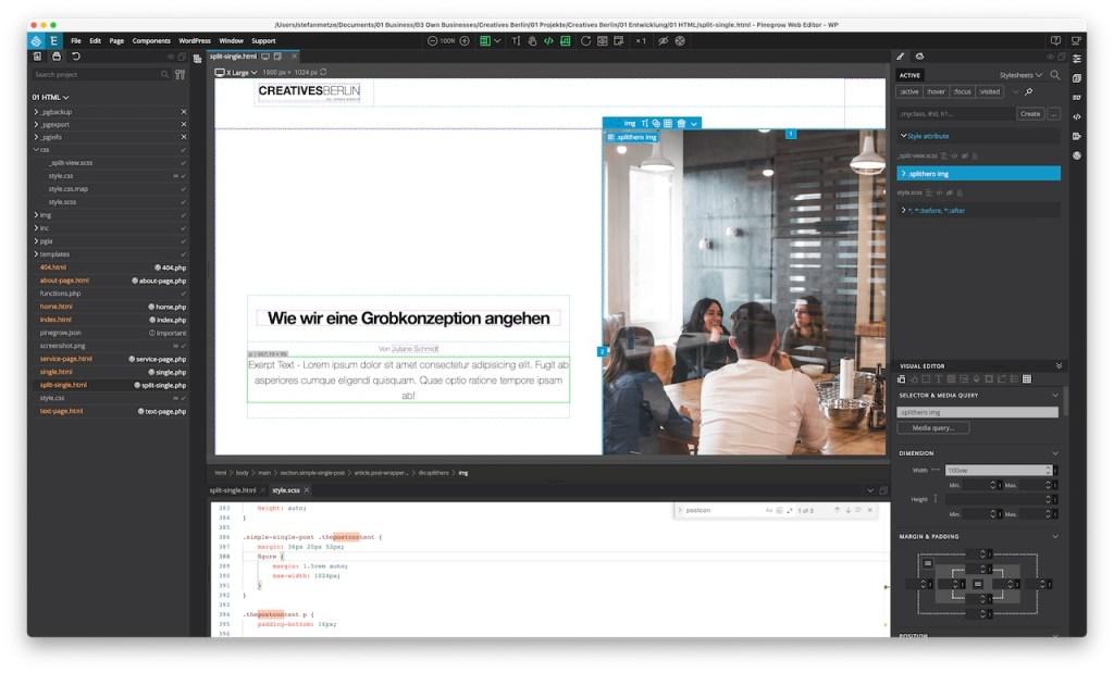 Wordpress Webeditor Pinegrow