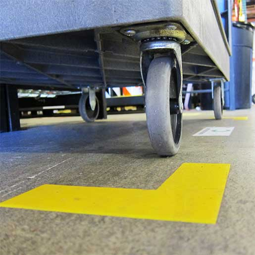 Floor Marking Tape Corners  Creative Safety Supply