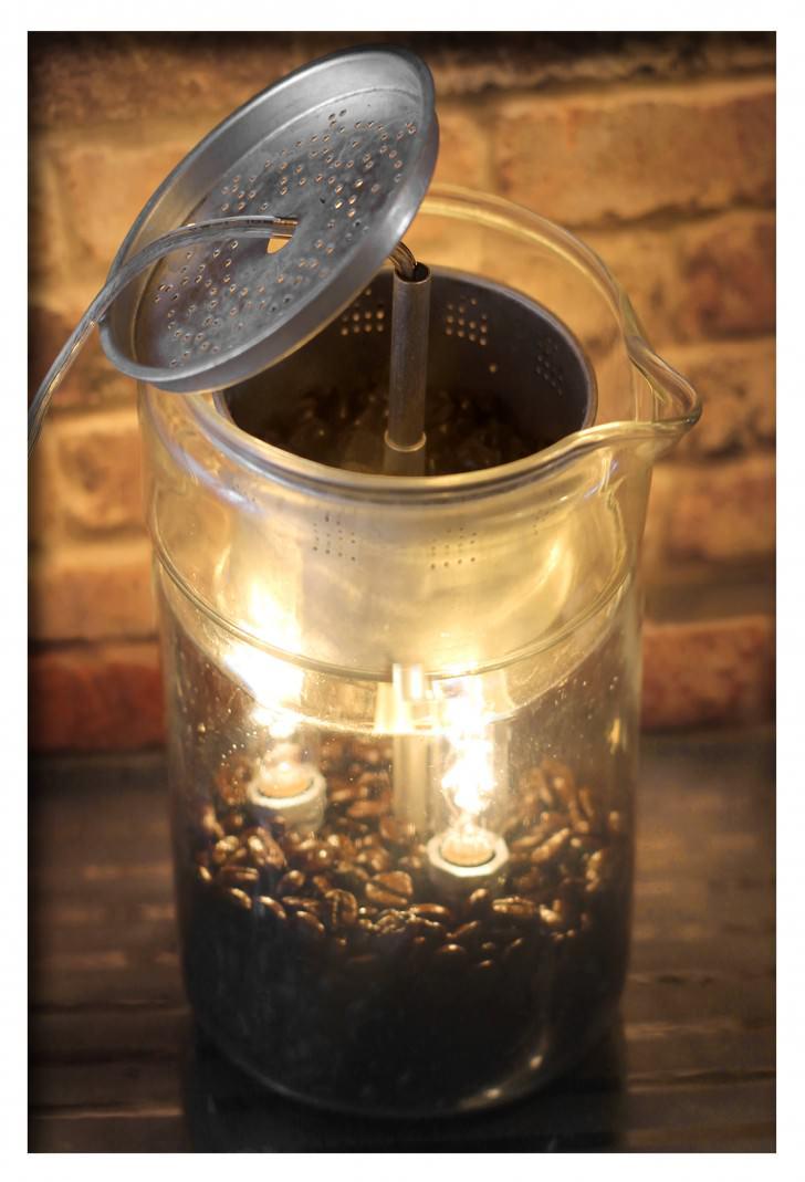 Vintage Lamp From Repurposed Pyrex Percolator Coffee Pot