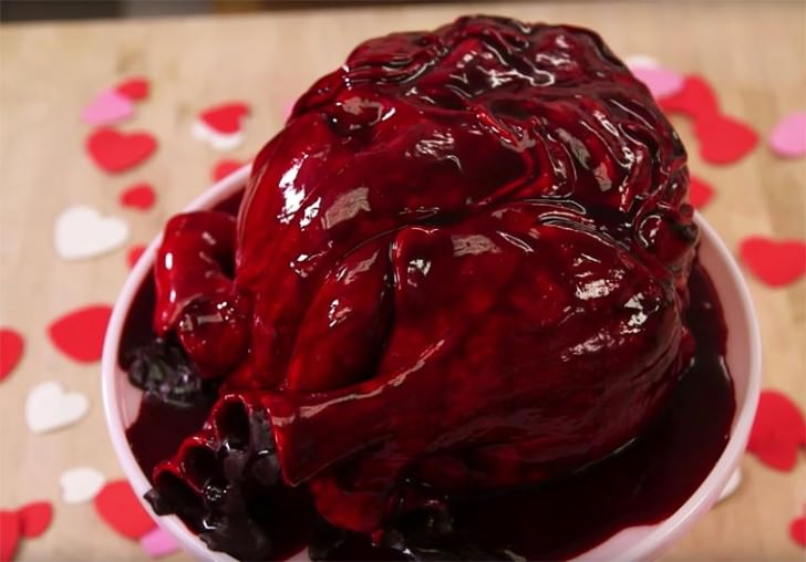 Realistic Cake Shaped As A Human Heart Giving Your Heart