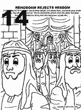 Rehoboam And Jeroboam Coloring Pages Coloring Pages