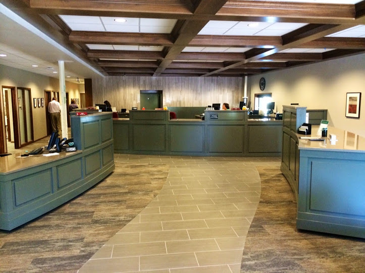 Banks  Custom Commercial Cabinetry  Millwork