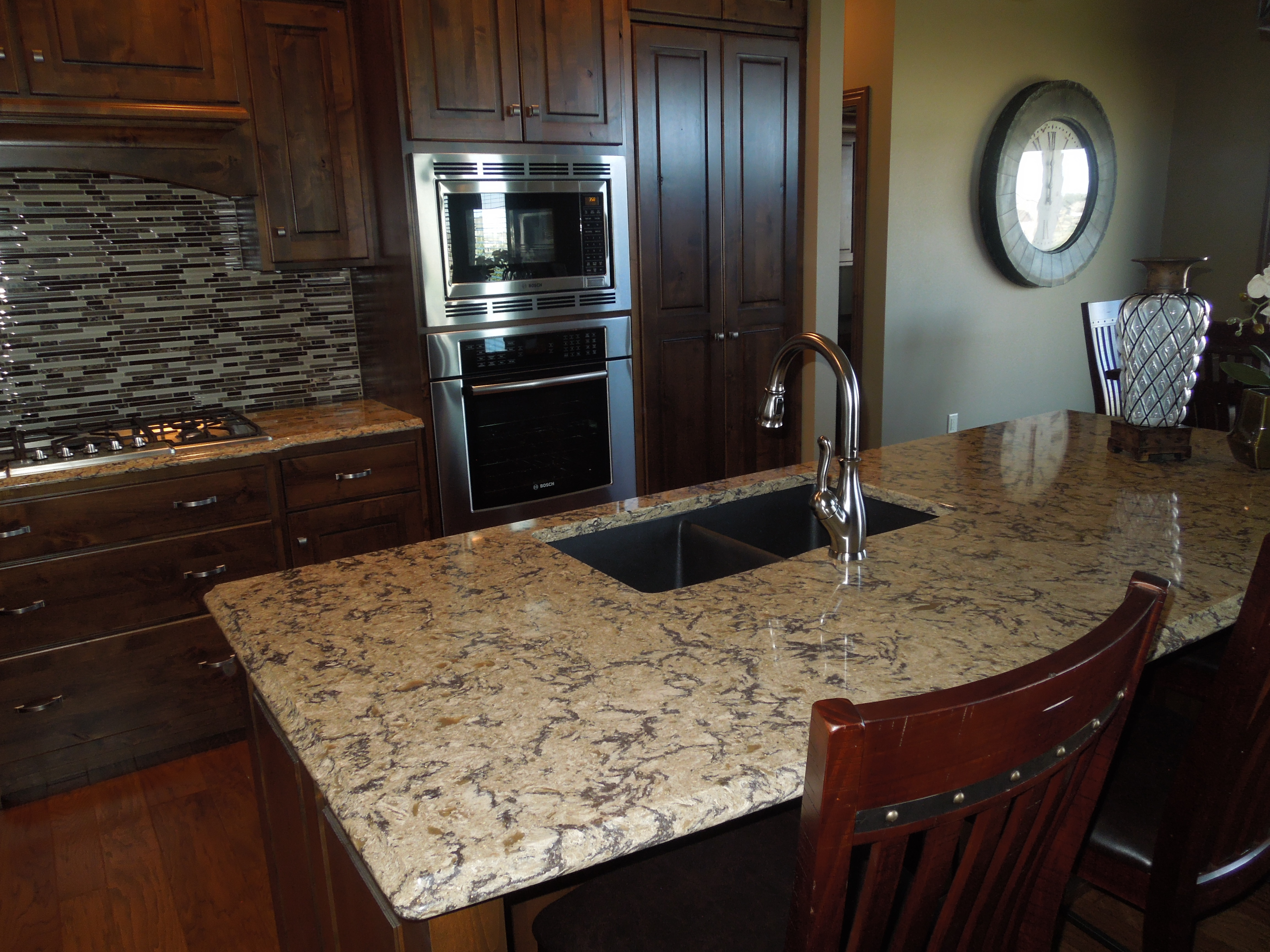 natural cherry kitchen cabinets bronze pull down faucet lincolnshire feature show... - creative surfaces blog