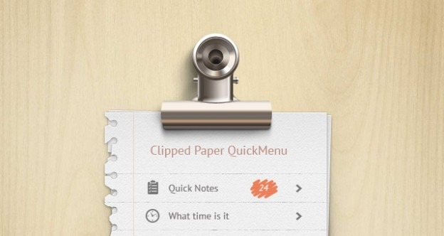 002 clip note paper menu wood psd e1359532624435 40+ Free Web Elements