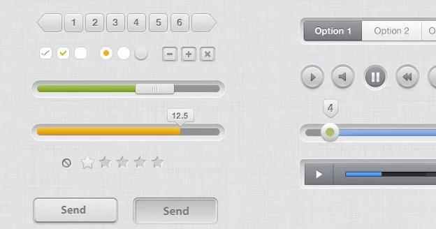 Clean UI Kit PSD 40+ Free Web Elements