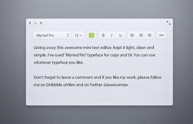 Light Text Editor 40+ Free Web Elements