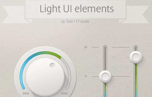Light UI Controls 40+ Free Web Elements