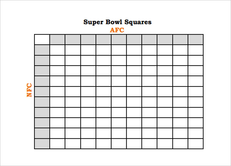 33+ Printable Football Square Templates Free Excel, Word
