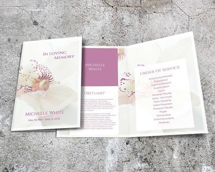 37 Funeral Brochure Templates Free Word PSD PDF Example