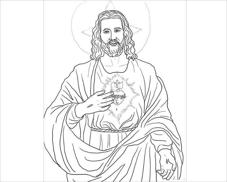 Jesus Face Outline Coloring Coloring Pages