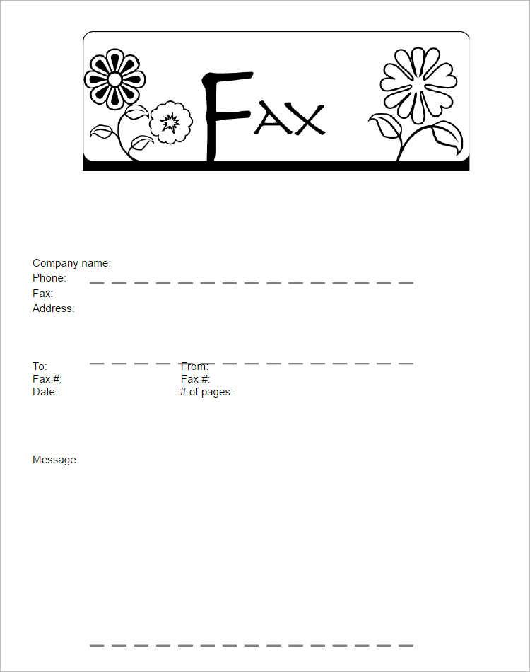 Funny Fax Cover Sheets Incepagine Ex