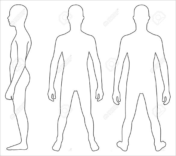 28+ Body Outline Templates Free PDF, PNG Formats