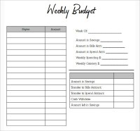 Simple Weekly Budget Worksheet | www.pixshark.com - Images ...
