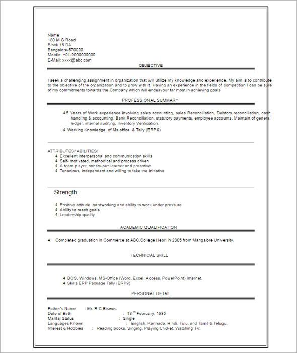 39 Student Resume Templates Free PDF Word Formats