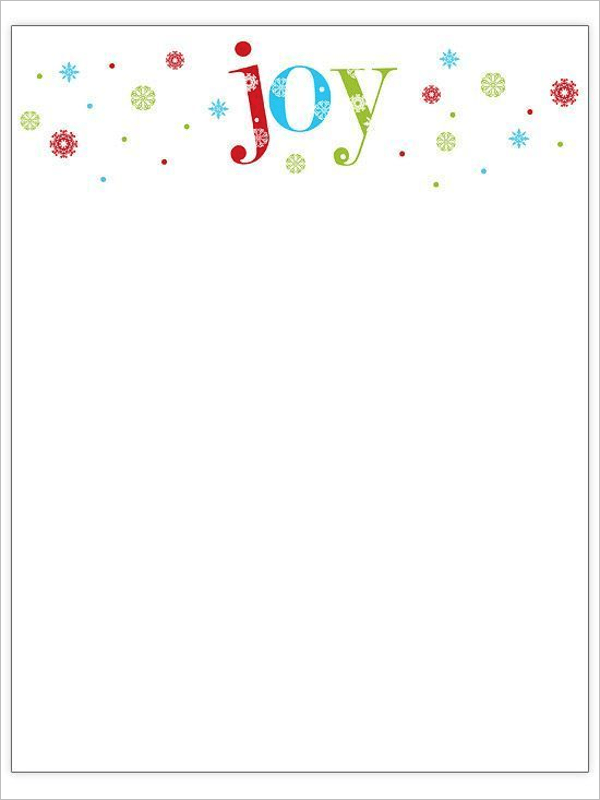 22+ Christmas Stationery Templates Free Word Paper Designs