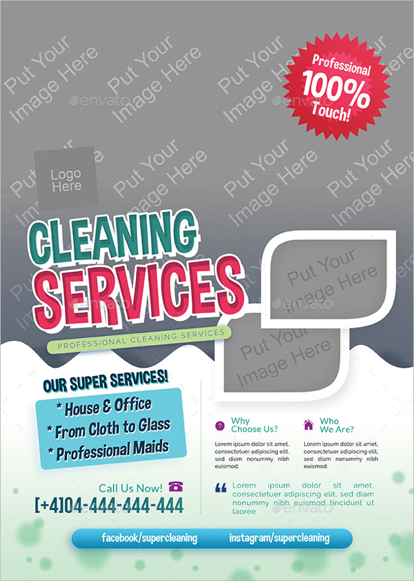 30 Sample Cleaning Flyer Templates Free PSD Word Ideas