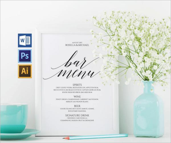 54+ Bar Menu Templates Free PSD, Word, PDF Design Ideas Download