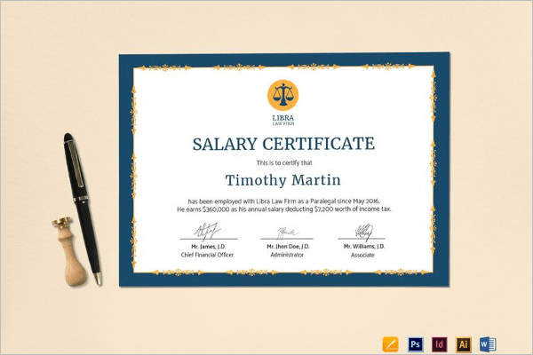 16 Free Salary Certificate Templates PDF Word DOC Formats
