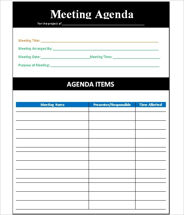 Meetings can flounder without proper planning, even with a clear purpose and appropriate participants. 31 Simple Agenda Templates Free Word Pdf Format Examples