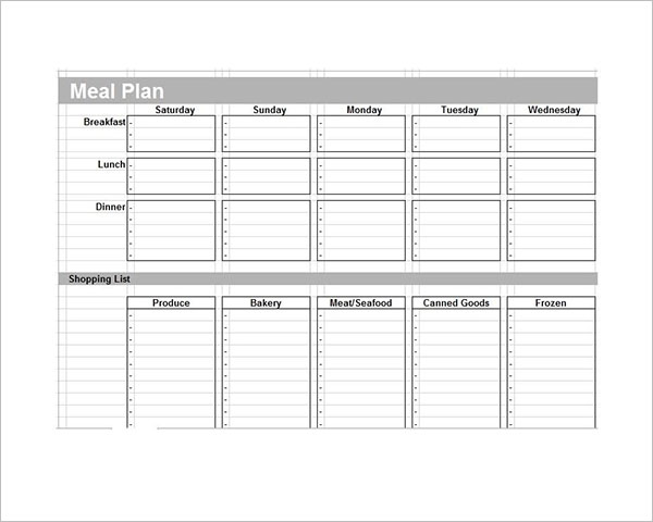 43+ Meal Planning Templates Free PDF, Doc, Excel Format Ideas