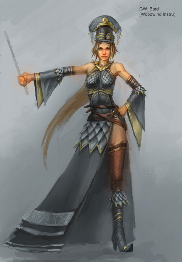 Bard Female Characters Amp Art Guild Wars Factions