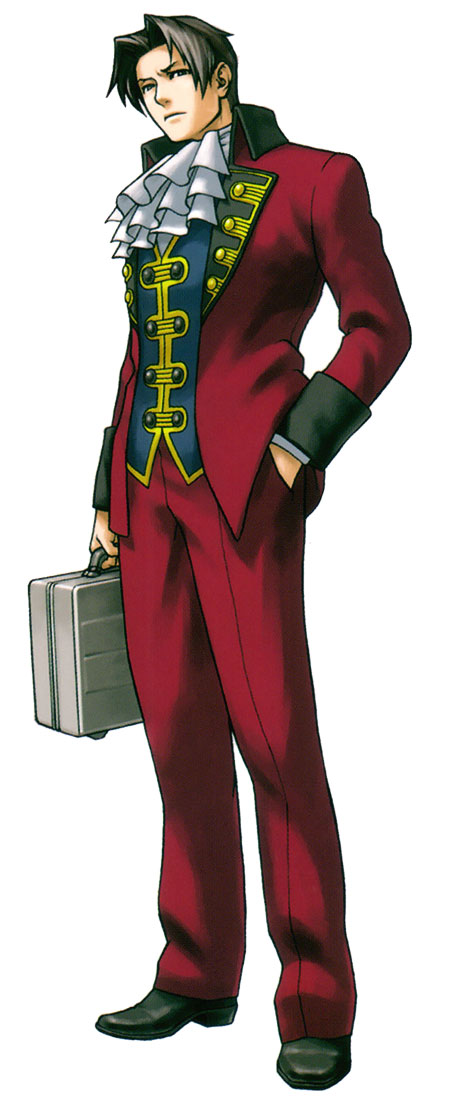 Miles Edgeworth  Characters  Art  Phoenix Wright Ace