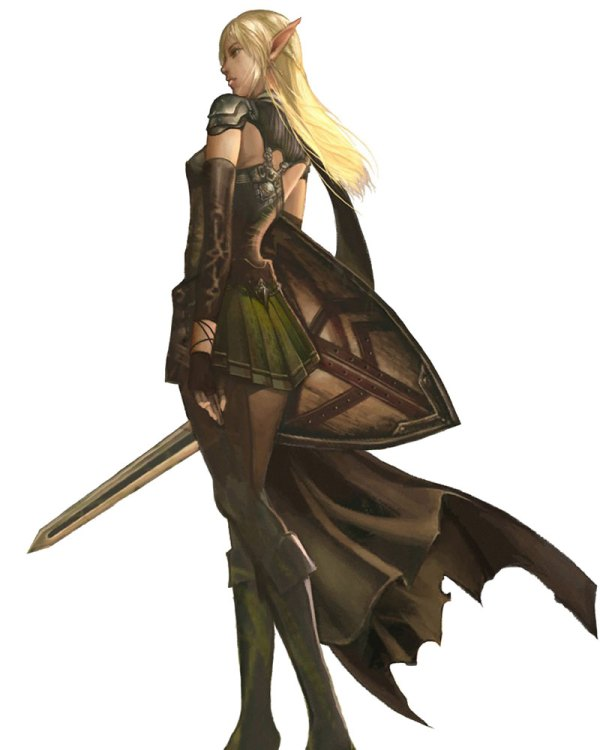 Female Elf Character Concept Art