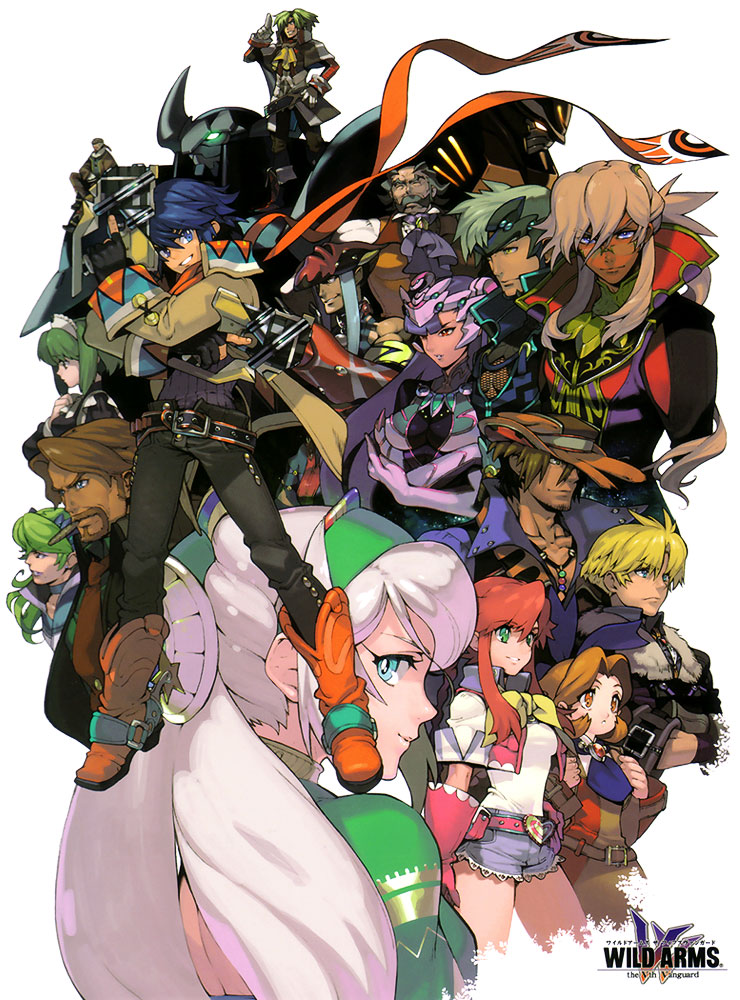 Main Characters Illustration Wild Arms 5 Art Gallery