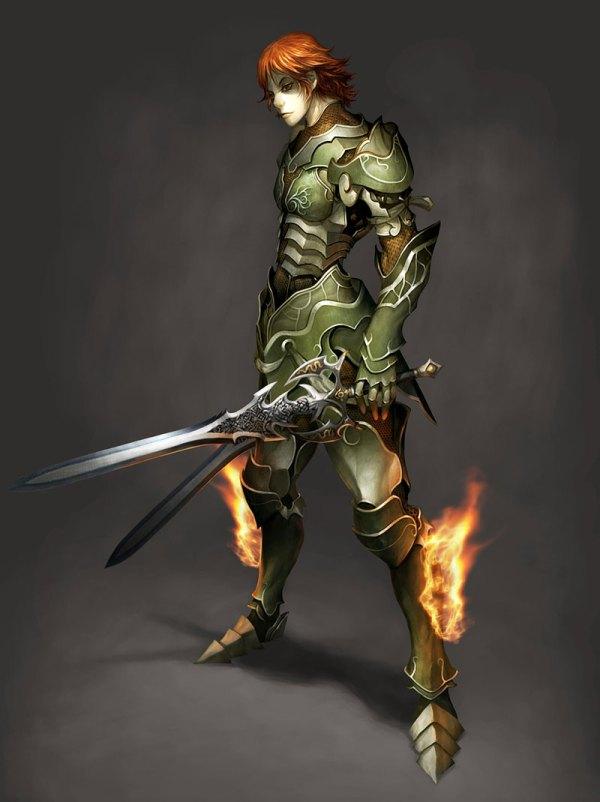 Character Concept Art Swordsman Male