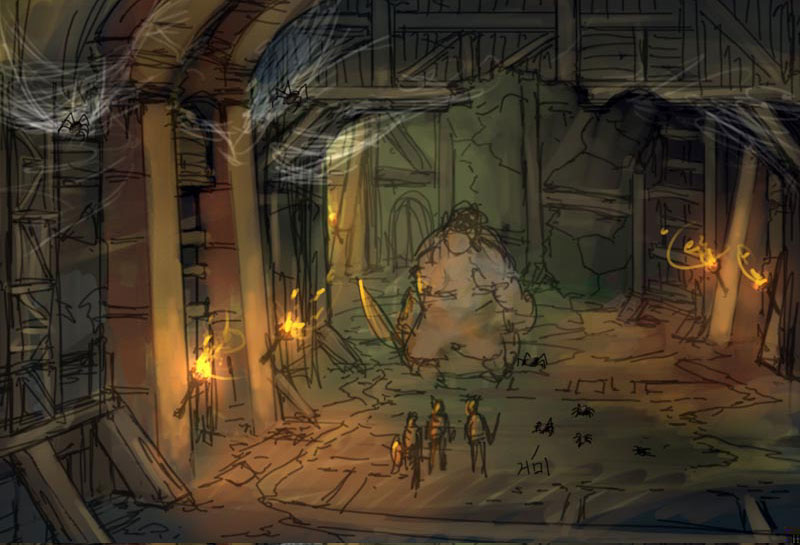 Skyrim Animated Wallpaper Dungeon Concept Art Granado Espada Art Gallery