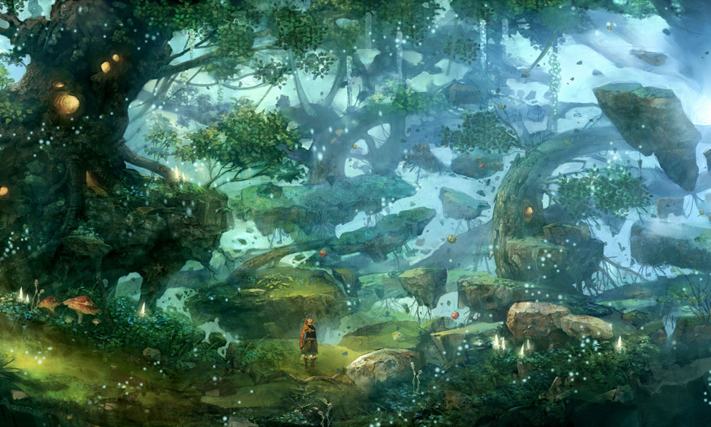 Girl In Woods Wallpaper Promotional Art Final Fantasy Crystal Chronicles The