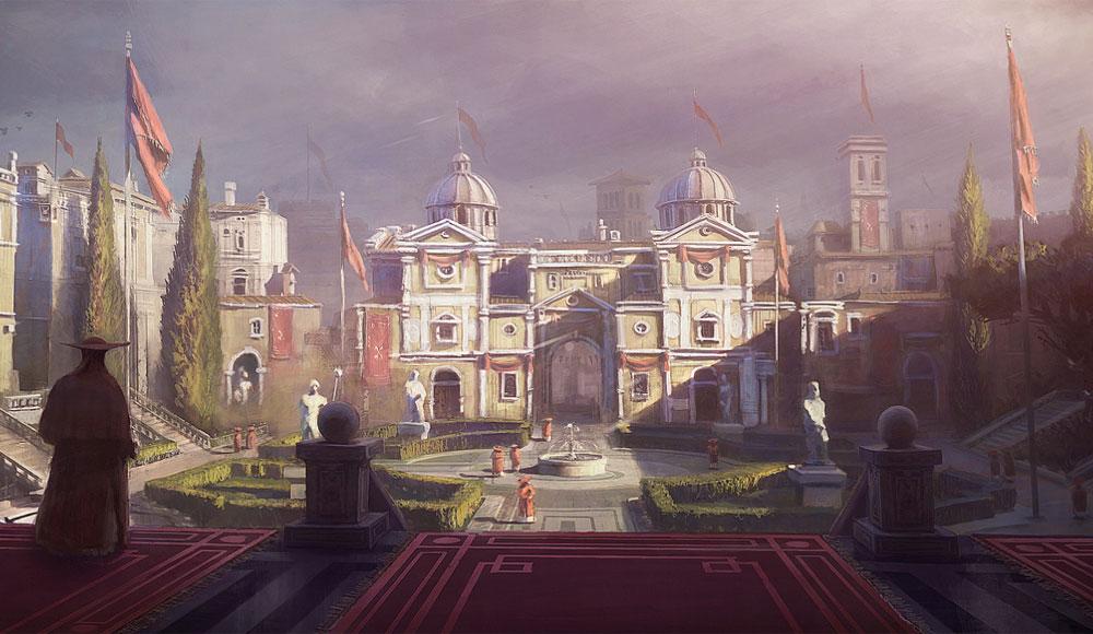 Courtyard Art  Assassins Creed Brotherhood Art Gallery