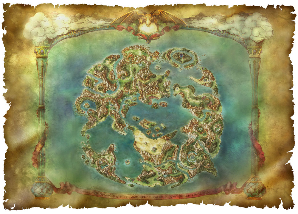World Map Art Dragon Quest Vi Realms Of Revelation Art