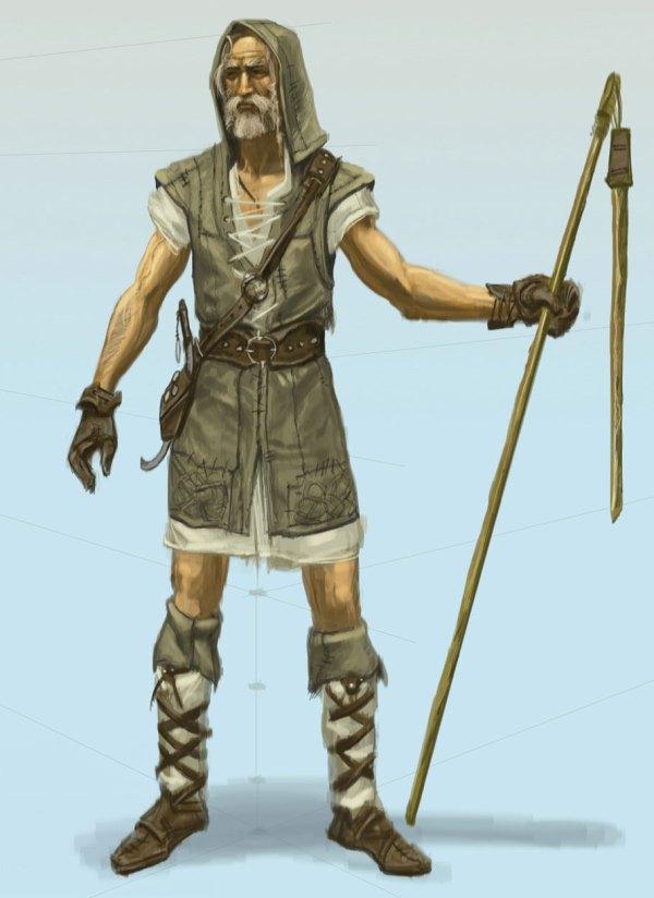 Male Nord Farmer Art - Elder Scrolls Skyrim