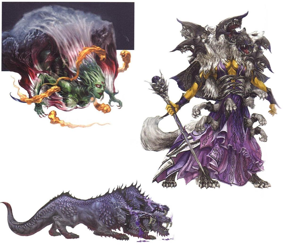 Crystal Tower Bosses Characters Amp Art Final Fantasy
