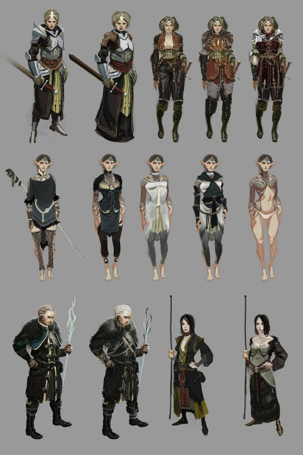 Dragon Age Character Concept Art