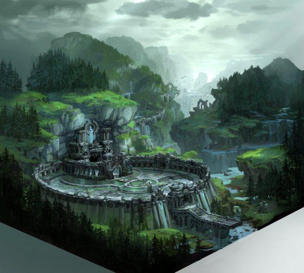 Chasm Landscape - Characters & Art Darksiders Ii