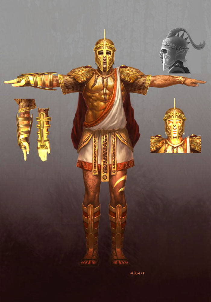 Helios Characters Amp Art God Of War Iii