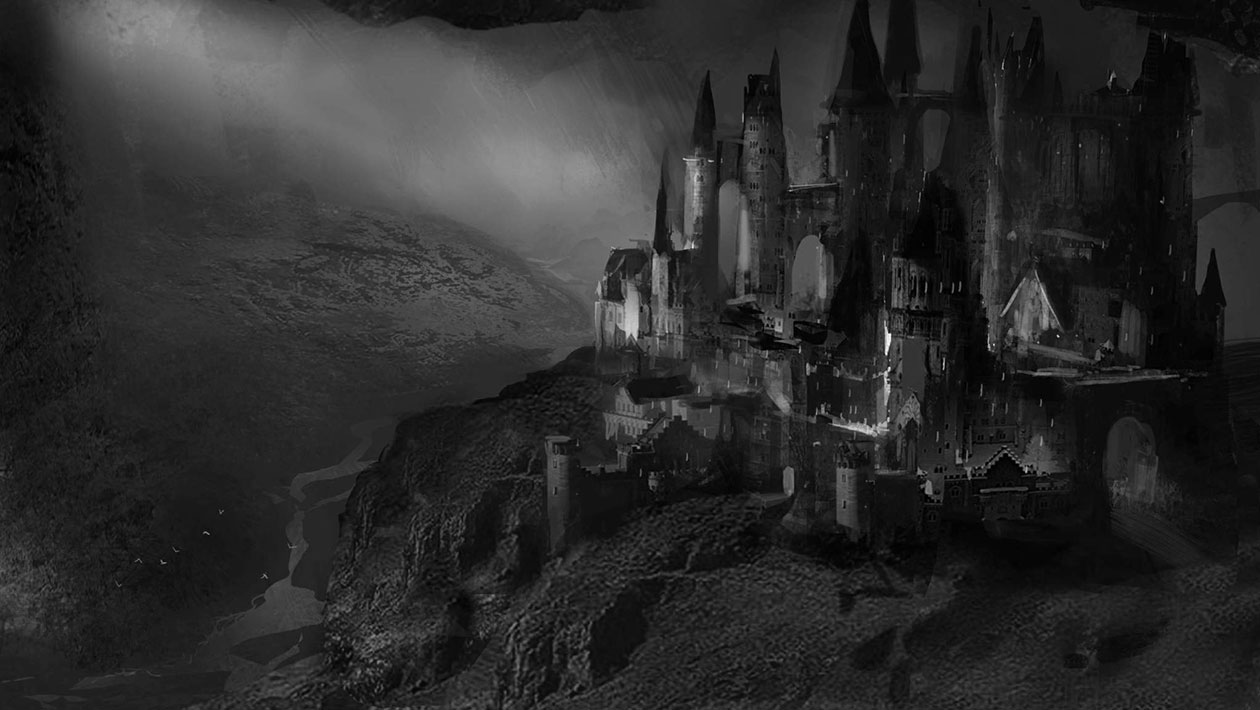 Black And White Gothic Wallpaper Castle Art Dark Souls Ii Art Gallery