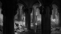 pillar architecture art - dark