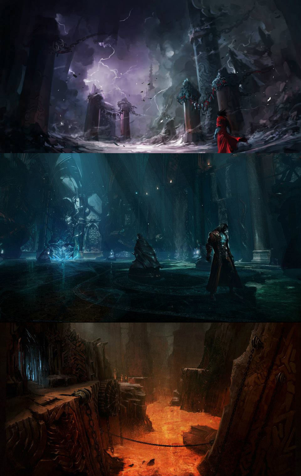 Environment Concepts  Characters  Art  Castlevania Lords of Shadow 2