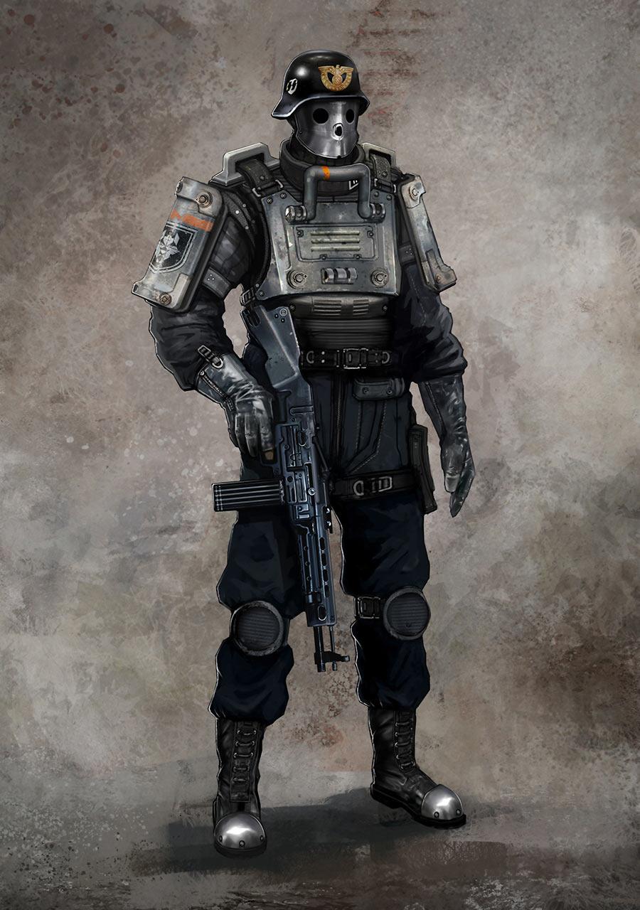 Black Guard Artwork Characters Amp Art Wolfenstein The