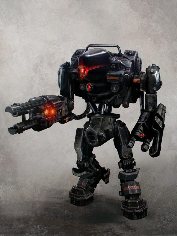 Guard Robot Art - Wolfenstein Order