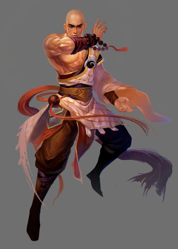 Monk Concept Art Character