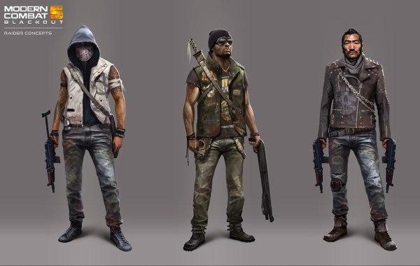 Raider Concepts - Characters & Art Modern Combat 5 Blackout