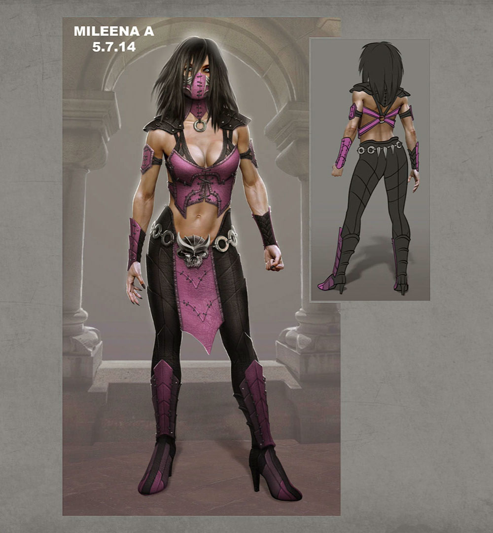 Mileena Front Amp Back Concept Art Mortal Kombat X Art Gallery